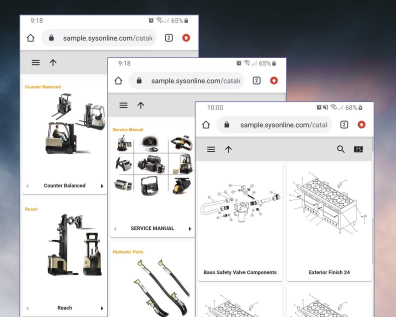 screenshots of mobile online electronic parts catalog software